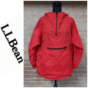 LL Bean   Zip-up Hooded Windbreaker Red